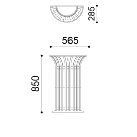 Lys Parete Wall Mount 25lt