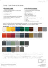Powder Coated Steel and Aluminum Data Sheet