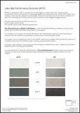 UHPC Material Sheet